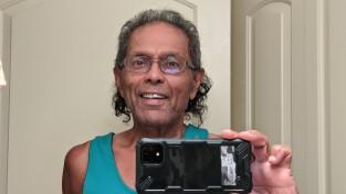 Anura Guruge selfie COVID look August 2020